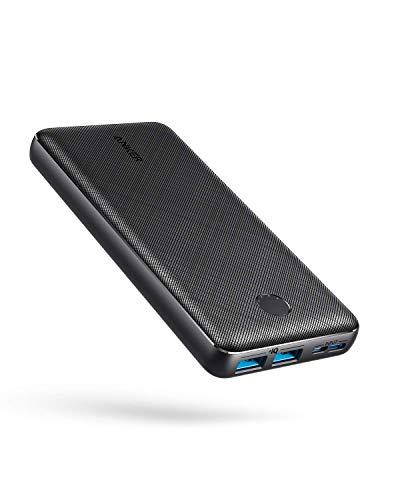 Anker PowerCore Essential 20000 Powerbank, 20000mAh externer Akku mit PowerIQ Technologie und USB-C Eingang, enorme Energiedichte, kompatibel mit iPhone, Samsung, iPad und mehr