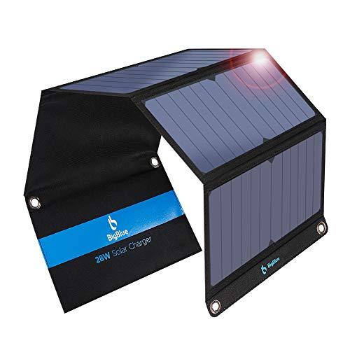 BigBlue 28W tragbares Solar Ladegerät 2-Port USB IPX 4 wasserdicht
