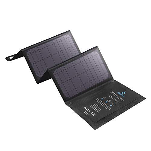 BigBlue 28W tragbar Solarladegerät mit 3 USB Port (4.8A insgesamt), Wasserdicht Solarpanel, faltbar, ideal für Outdoor Aktivitäten, für Wiederaufladen USB-Geräte -iPhone Android GoPro