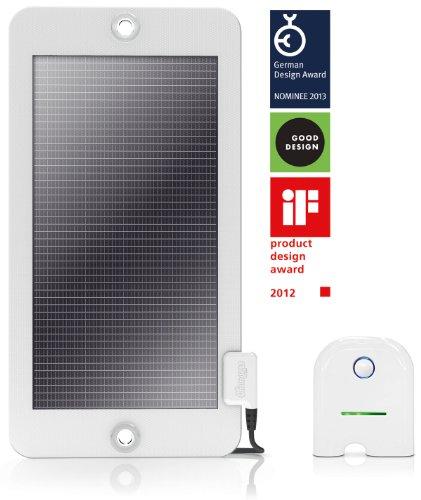 Changers intelligentes Solarladegerät mit 4400 mAh Akku und 4Watt starkem Solar Panel