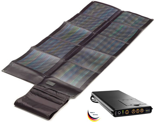 sunload solar charger set 30wp solar ladeger t test. Black Bedroom Furniture Sets. Home Design Ideas